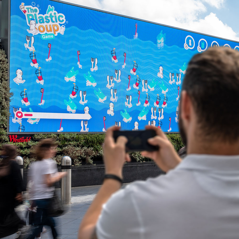 2019 winners Plastic Soup linked the user's phone to the screen to play the game